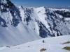 Beim Anstieg auf den steilen Tristkogel schulterten wir die Ski.