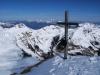 Blick vom ersten Gipfel unserer Runde auf die letzten drei - Tristkopf, Saalkogel und Staffkogel.