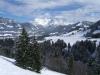Am Beginn der Tour knapp oberhalb vom Ghf. Winkelmoos mit Blick zu den Loferer Steinbergen