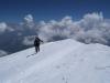 Die letzten Meter zum Gipfel des Kazbek