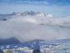 Die Loferer Steinberge ragen aus dem Nebelmeer