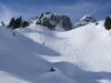 Schöne Skihänge bringen uns zur Adamalm zurück.
