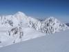 Blick Richtung Westen - in Bildmitte am Horizont der Elbrus