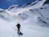 Abfahrt Teil1: der Gipfelhang war vom Wind etwas bearbeitet...