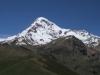 Der Kazbek von der Kirche aus gesehen