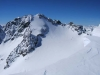 Beeindruckend ist vor allem der Blick auf die eisige Nordflanke der Ruderhofspitze.