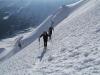 Der Aufstieg mit Ski war sehr gut möglich