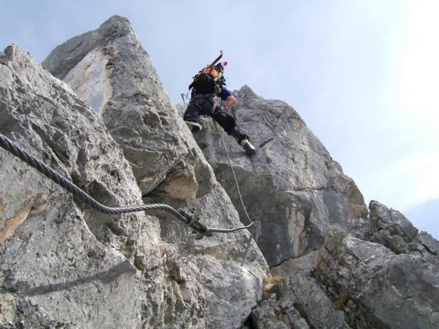Klettersteig Tajakante : Riesner at archive vorderer tajakopf m u tajakante